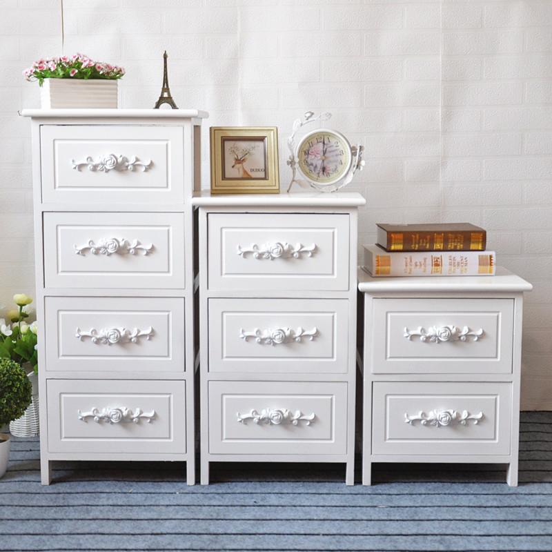 夹缝收纳柜实木抽屉式3层储物柜缝隙整理窄柜子简约现代床头柜