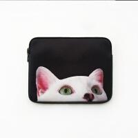 苹果惠普笔记本电脑防震内胆包air0寸Macbook2pro13.3寸15.6寸 猫猫(加绒款)