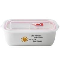 陶瓷多格保鲜碗微波炉饭盒纯白便当盒带盖食物保鲜盒储物罐子