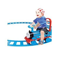 越诚托马斯小火车套装轨道车可坐人儿童电动车男孩玩具男生1-3岁 抖音 带轨道 官方标配