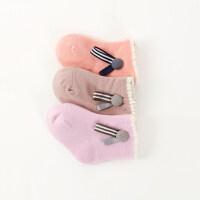 3双春秋款宝宝0-3-6-12个月新生儿男女宝宝袜子婴儿袜子松口