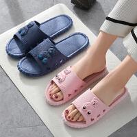 泰蜜熊一体成型简约时尚情侣款夏季凉拖鞋男女浴室防滑凉拖鞋