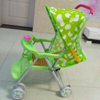 儿童折叠四轮竹子手推车可躺婴幼儿宝宝简易透气轻便夏季藤编座椅