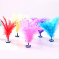 彩色火鸡毛毽子健身玩具儿童户外毽球小学生运动比赛键子地摊 彩色羽毛毽子1个颜色随机