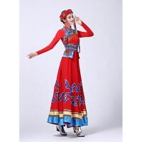 2018 新款2018年春季新款少数民族蒙古族服装女内蒙舞蹈表演舞演出服饰时尚潮流 红色
