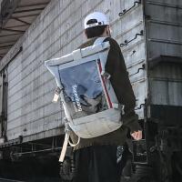 日版古着书包潮牌双肩包男士旅行背包大容量时尚潮流韩版女电脑包