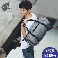 cai大容量手提旅游包男女士单肩运动健身包出差行李包短途旅行袋