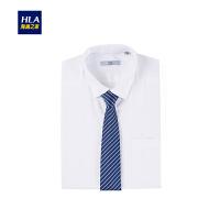 HLA/海澜之家商务条纹领带2018秋季新品箭头型领带男