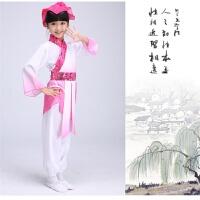 2018新款儿童古装汉服书童三字经弟子规古诗朗诵舞蹈演出服幼儿国学班服装