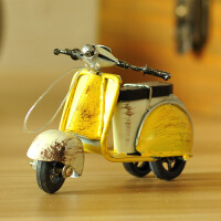 玄关家居软装饰品摆件美式乡村小绵羊创意手工摆饰复古摩托车模型