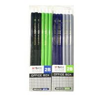 2B铅笔 晨光文具 木杆铅笔六角极简办公系列2B AWP35724铅笔 一盒12支