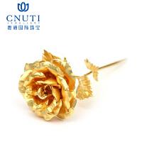 CNUTI粤通国际珠宝 玫瑰花 金色玫瑰