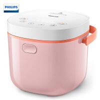 飞利浦(PHILIPS)电饭煲 2L迷你智能可预约触摸控制可做酸奶 HD3070/00粉色