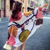 旅游围巾女棉麻冬季大纱巾沙滩巾丝巾女夏季海边披肩两用青海