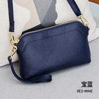 手包女手拿包新款潮包韩版单肩包女小包包时尚百搭小挎包 宝蓝色