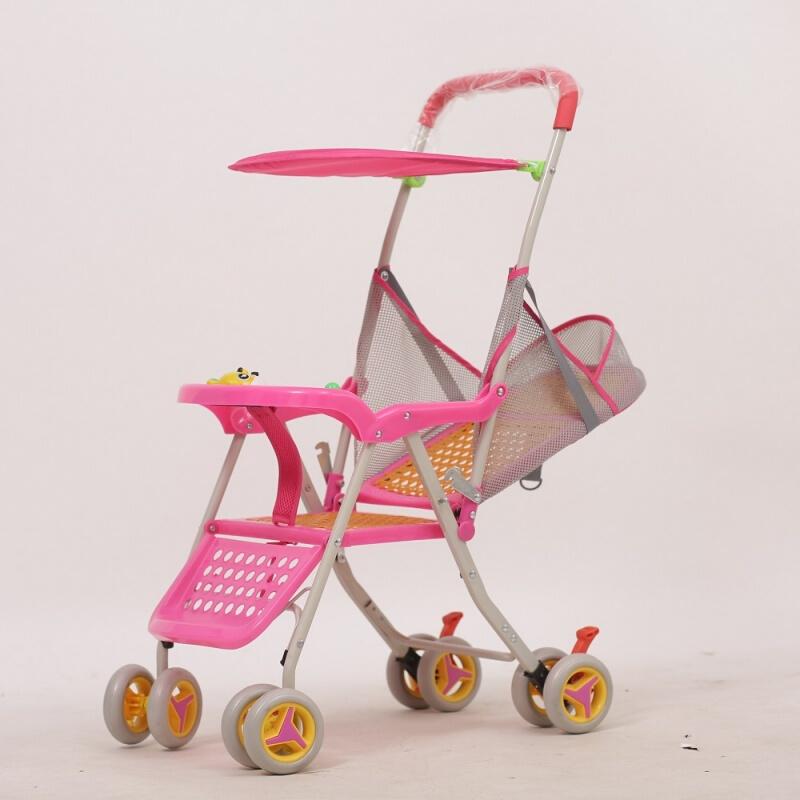 婴儿轻便推车 儿童推车夏季仿藤折叠推车 藤编可折叠推车夏款