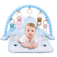 婴儿健身架器脚踏钢琴新生儿音乐游戏毯宝宝玩具0-1岁3-6-12个月抖音 【1600内容】遥控投影飞机 粉