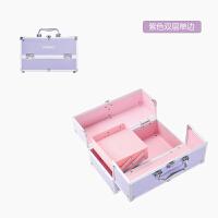 大号手提化妆箱包 多层美甲彩妆 带锁便携纹绣工具箱子