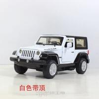 儿童合金汽车玩具 敞篷越野车 牧马人jeep模型 吉普 回力声光四开