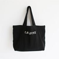 猫西简约手提饭盒袋便当袋水洗帆布手拎袋女士午餐袋便当包小拎包