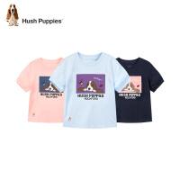 【2件5折:89.5元】暇步士童装女童圆领衫2021夏季新款时尚短袖中大童简洁印花T恤