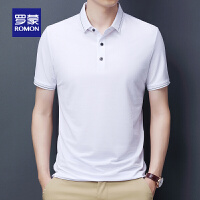 【2折预估到手价:70叠券更优惠】罗蒙男士短袖POLO衫2021夏季新款打底衫中青年T恤衫