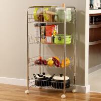【满减】ORZ 家居多功能置物架带轮客厅四层架 可移动卫生间金属厨房架子蔬菜架落地