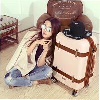 女生行李箱少女拉杆箱韩版小清新个性欧美复古旅行皮箱大学生可爱SN1321 米白色 可扩展