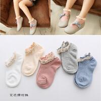 儿童袜子韩版女童蕾丝花边袜韩国风春夏薄款宝宝短袜