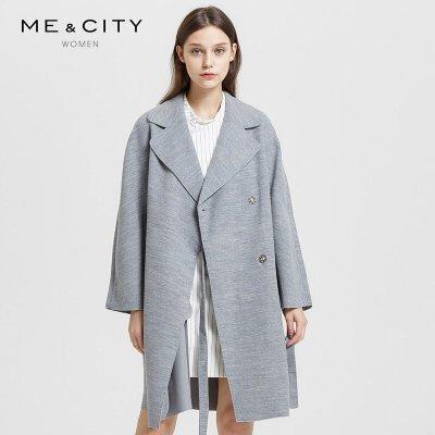 ME&CITY 514650 女士羊毛混纺大衣 179.7元包邮(立减)