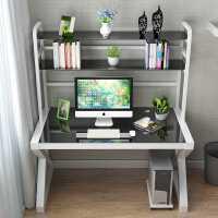 电脑桌简约现代学习桌书桌书架组合家用写字桌台式桌经济型写字台
