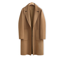 秋冬新款季胖mm大码200斤呢子大衣女中长款加厚毛呢外套女装