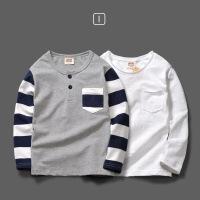 男童t恤长袖纯棉童装儿童打底衫秋装2018新款中大童男孩宝宝上衣