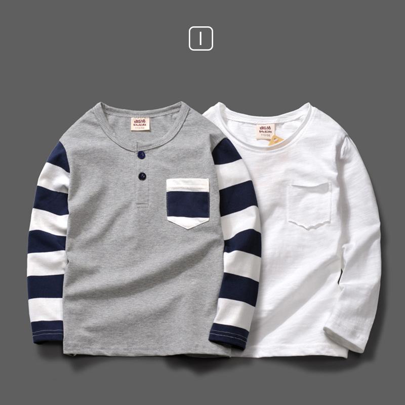男童t恤长袖纯棉童装儿童打底衫秋装2018新款中大童男孩宝宝上衣 发货周期:一般在付款后2-90天左右发货,具体发货时间请以与客服协商的时间为准