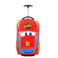 儿童拉杆箱卡通汽旅行箱男女宝宝行李箱18寸可坐可骑小学生密码箱 18寸豪华版