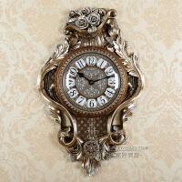 欧式挂钟客厅豪华摇摆钟表静音创意复古时尚简约现代大号时钟