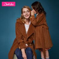 【券后�A估�r:47】笛莎童�b女童�H子�b大衣20冬季新款中大童�和��色母女�b外套