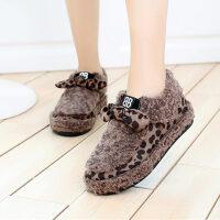 冬季学生韩版潮流百搭女生鞋平底加绒加厚休闲日常12-15豆豆棉鞋