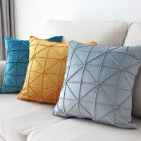北欧抱枕靠垫纯色简约客厅沙发靠垫样板房卧室床头抱枕套不含芯