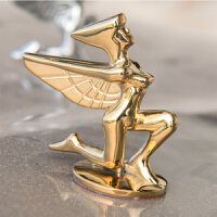 女神车标大小马头3D自由女神立标飞鹰标银色金色金属车贴车标