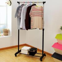 【满减】ORZ 时尚创意单杠阳台晾/晒衣架 可升降移动室内挂衣架/杆
