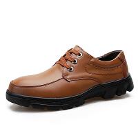 真皮厚底增高男鞋商务休闲皮鞋大码鞋软底男鞋子日常休闲皮鞋男