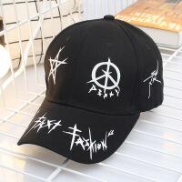 帽子男女士时尚户外休闲棒球帽 个性涂鸦弯檐鸭舌帽子遮阳 可调节