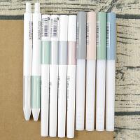 晨光优品韩国批发中性笔黑色0.5mm蓝笔红笔文具可爱小清新男女学生用按动水笔芯0.5碳素水性笔办公用品