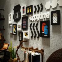 工业风客厅背景墙装饰画餐厅网吧复古怀旧创意挂画酒吧网咖墙画 A款1米44,B款2米1