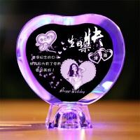 20180506124821421母亲节生日礼物送爸爸妈妈女生男生女友朋友闺蜜老婆父母DIY个性定制创意水晶礼品浪漫表