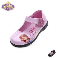 迪士尼Disney童鞋2018新款儿童皮鞋时尚甜美苏菲亚公主鞋女童闪灯时装鞋学生鞋(4-8岁可选)  K00200
