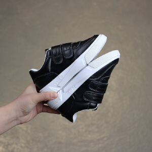 儿童小白鞋2019年春季真皮男女童鞋低帮休闲板鞋学生鞋纯色
