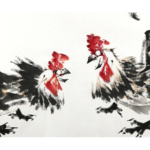知名画家 吴东kui 【论英雄 】136*68cm.纸本软片,品如图。