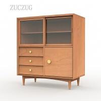 ZUCZUG北欧实木餐边柜五斗柜樱桃白橡木客餐厅卧室组合家具衣柜边柜书柜 组装